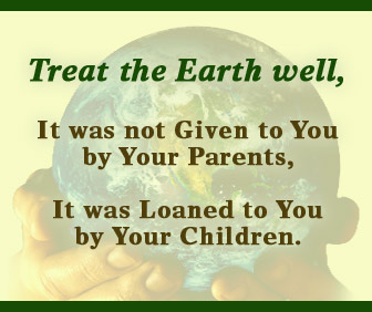 treat the earth